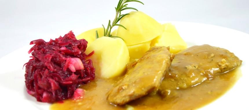 Bitki wieprzowe w sosie pieczeniowym