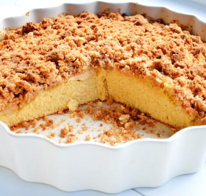 ciasto ucierane z jablkami i razowa kruszonka