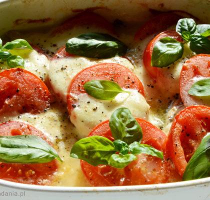 piersi z kurczaka zapiekane z pomidorami i mozzarella