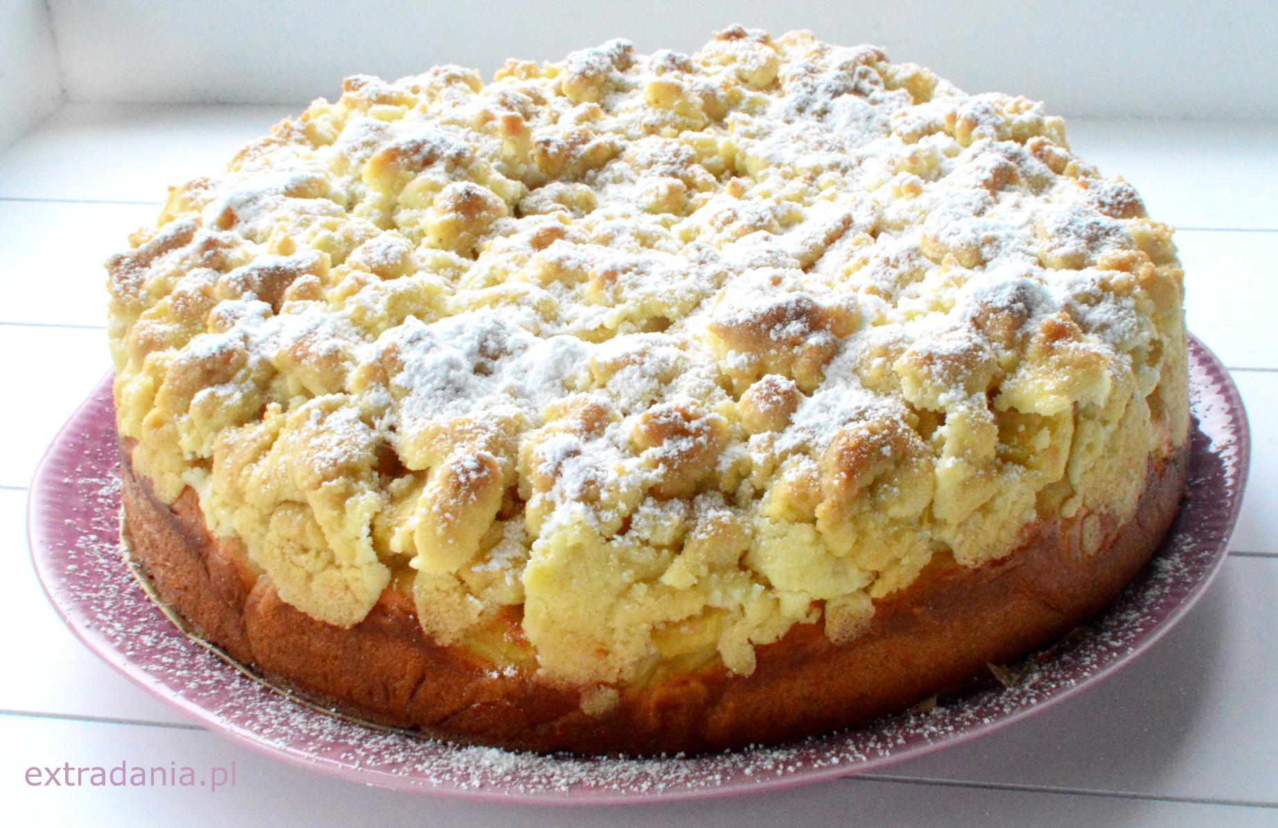 Ciasto Drozdzowe Z Jablkami I Kruszonka Extradania Pl