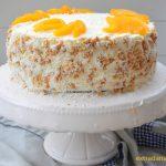 Tort śmietanowo – brzoskwiniowy