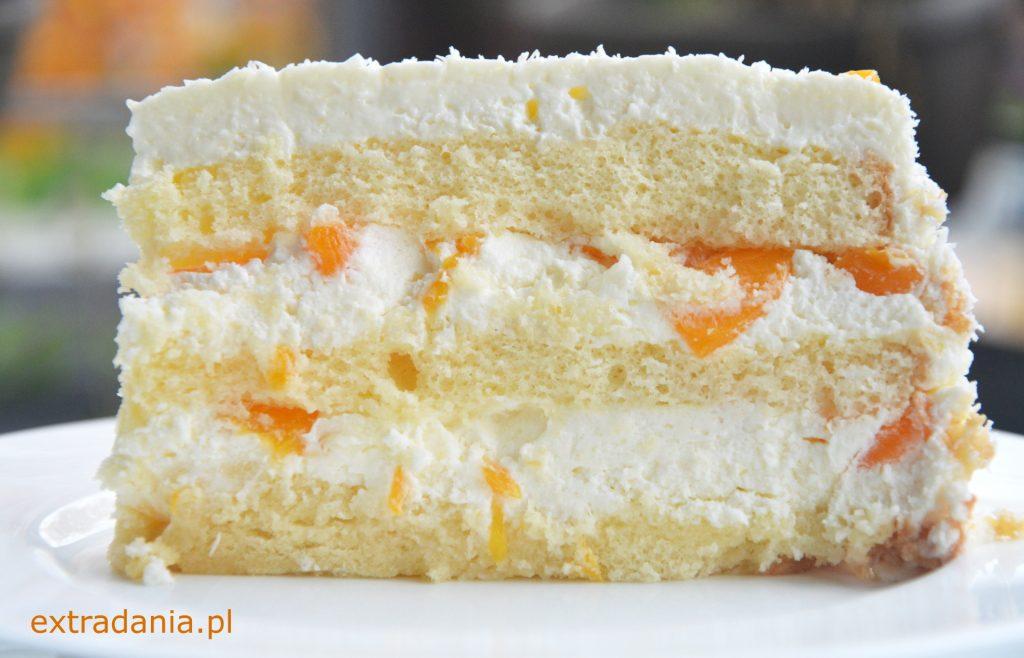 tort smietanowo brzoskwiniowy