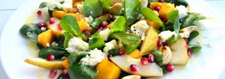 salatka z mango gruszka i granatem