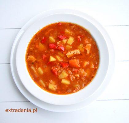 zupa gulaszowa z kurczakiem i soczewica