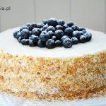 Tort borówkowy z mascarpone