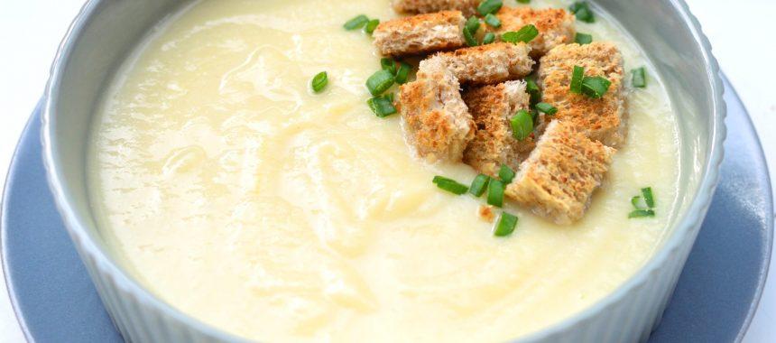 Zupa krem z kalafiora i szparagów