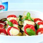 Ryba zapiekana z cukinią, pomidorami i mozzarellą