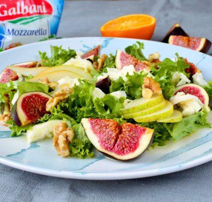 salatka z figa gruszka i mozzarella