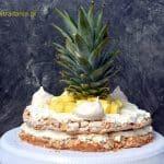 Tort bezowo-migdałowy z ananasem